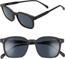 Dean 51mm Square Sunglasses - Matte Black/ Grey