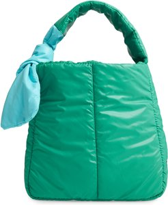 Fractus Water Resistant Nylon Tote - Blue/green