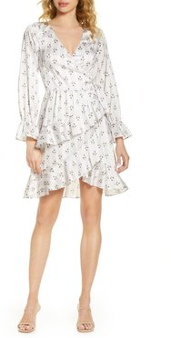 Greta Long Sleeve Floral Wrap Dress