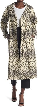 Sea Cheetah Print Double Breasted Trench Coat at Nordstrom Rack