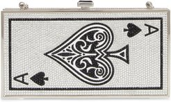 Ace Of Spades Crystal Clutch -