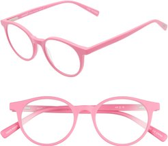 Case Closed 49mm Round Reading Glasses - Pink Matte
