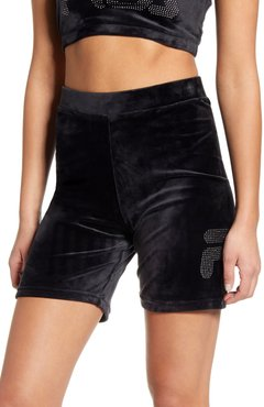 Iris Sretch Velvet Bike Shorts