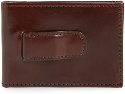 Leather Money Clip Wallet - Brown