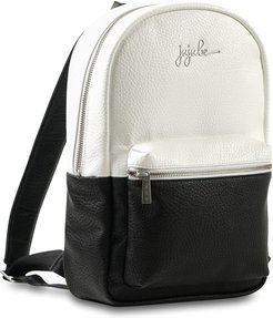 Infant Ju-Ju-Be Ever Collection Mini Faux Leather Diaper Backpack - Black