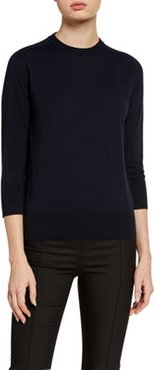 3/4-Sleeve Featherweight Cashmere Sweater