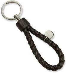 Intrecciato Leather Loop Key Chain