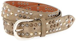 Devis Suede Studded Belt