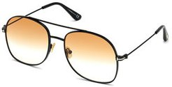 Delilah Metal Aviator Sunglasses