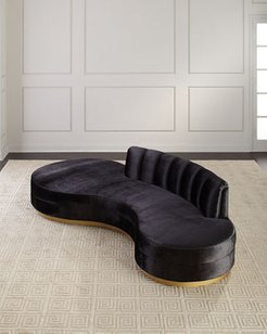 Layla Chanel Tufted Curved Sofa 121""