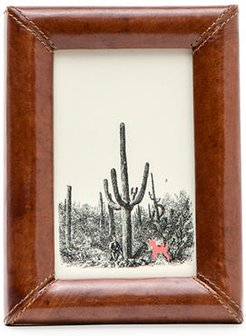 """Eton Leather Picture Frame, 4"""" x 6"""""""