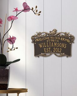 Songbird Welcome Anniversary Personalized Plaque