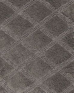 Tufted Diamond Reversible Bath Rugs, Set of 2