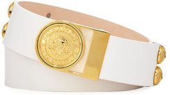 Valley Golden Coin-Buckle Leather Belt