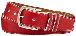 South Beach Pebbled Leather Belt