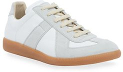 Replica Low-Top Leather Sneakers