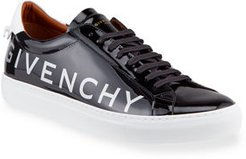 Urban Street Patent Leather Logo Sneakers