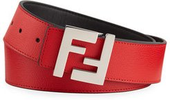 FF-Buckle Leather Belt