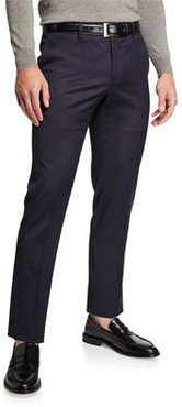 Slim-Fit Flat-Front Wool Trousers