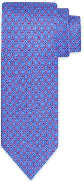 Luxury Quatrefoil Medallion-Print Silk Tie