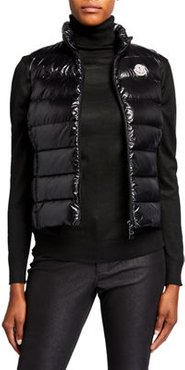 Ghany Shiny Quilted Puffer Vest