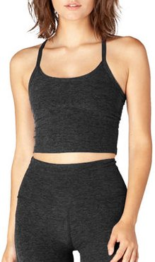 Space-dye Slim Racerback Cropped Tank