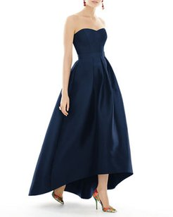 Strapless Sweetheart High-Low Sateen Gown