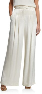 Noel Pleated Wide-Leg Pants