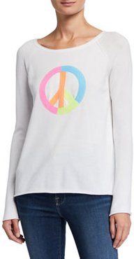 Peace Out Sequin Detail Cotton Sweater