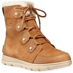 Explorer Lace-Up Waterproof Suede Boots
