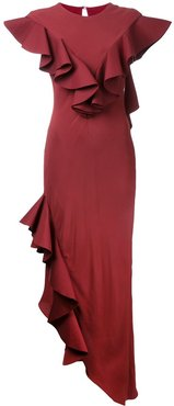 Crepe Raven gown - Red