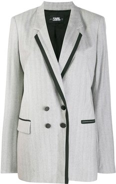 tailored double-breasted jacket - Grey