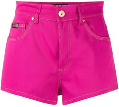 high rise jeans shorts - PINK