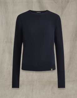 ENGINEERED CREW NECK navy