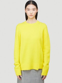 Textured Knit Sweater in Yellow size M