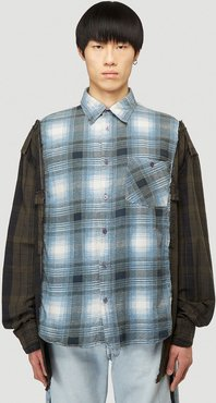 Deconstructed Shirt in Blue size One Size