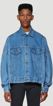 Classic Denim Jacket in Blue size One Size