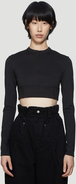 Cropped Top in Black size XS
