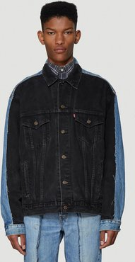 Two-Tone Jacket in Black size One Size