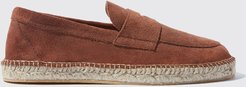 Italian Shoe SCAROSSO male Diego Brown Suede Brown suede Suede Leather 43