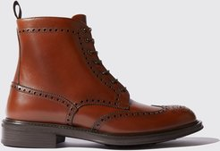 Boots Italian Shoe Scarosso male John Tan Tan Calf Calf Leather 40,5