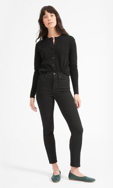 Cashmere Crew Cardigan by Everlane in Black, Size XL
