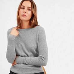 Cashmere Crew Sweater by Everlane in Heather Grey, Size XXS