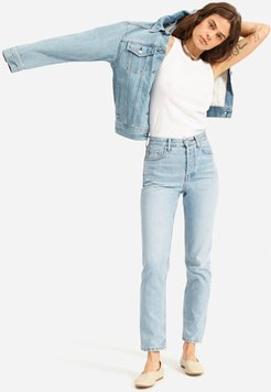 '90s Cheeky Straight Jean by Everlane in Vintage Sunbleached Blue, Size 33