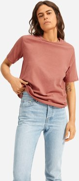 Air Oversized Crew T-Shirt by Everlane in Burnt Sienna, Size XS