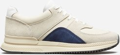 Trainer by Everlane in Off-White / Atlantic Blue, Size W11M9