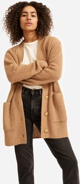 Oversized Alpaca Cardigan by Everlane in Camel, Size XL