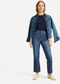 Cheeky Bootcut Jean by Everlane in Classic Blue Wash, Size 24