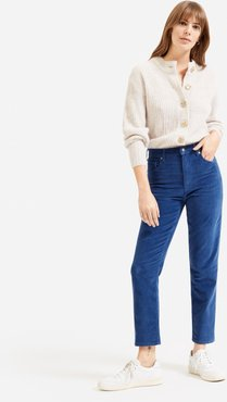 Cheeky Straight Corduroy Pant by Everlane in Atlantic Blue, Size 28