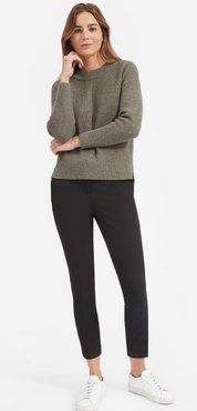 Premium Cashmere Crew Sweater by Everlane in Heather Taupe, Size XXS
